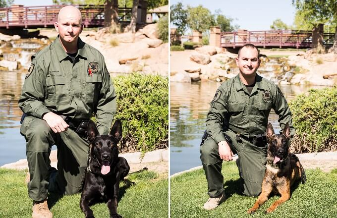 PCSO K9s Bandit and Niko Gifted with Body Armor